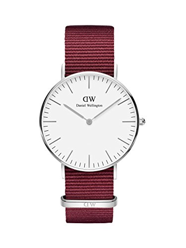 Daniel Wellington Classic Roselyn, Rubinrot/Silber Uhr, 36mm, NATO, für Damen und Herren
