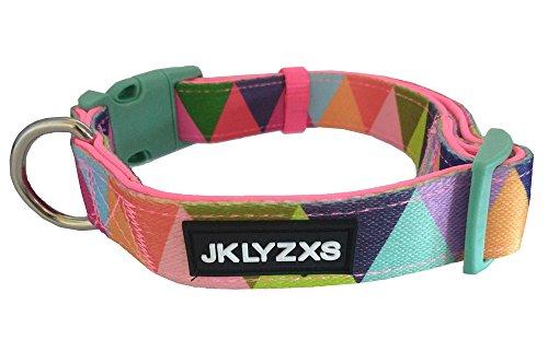 JKLYZXS Gemütlich Gedruckt Bunter Tauchtuch Halsband für Kleine Mittelgroße Hunde,Einstellbare Hundehalsband (S: Anzug für 30-40cm Hals, Dreieck Bunt)