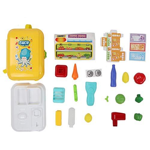 Accesorios para Alimentos Juguetes Paquete de Maletas para Alimentos, Juego de Juguetes para Maletas, Juego de Roles para niños pequeños