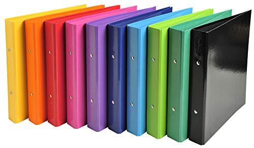 Exacompta Iderama - Archivador de Anillas, colores Surtidos. A5, Paquete de 10 unidades