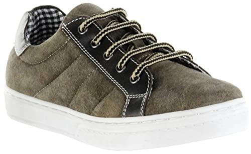 Bergheimer Trachtenschuhe Sneaker Halbschuhe braun Leder Kinder Schuhe Jonas Jungle, Farbe:braun, Größe:31 EU