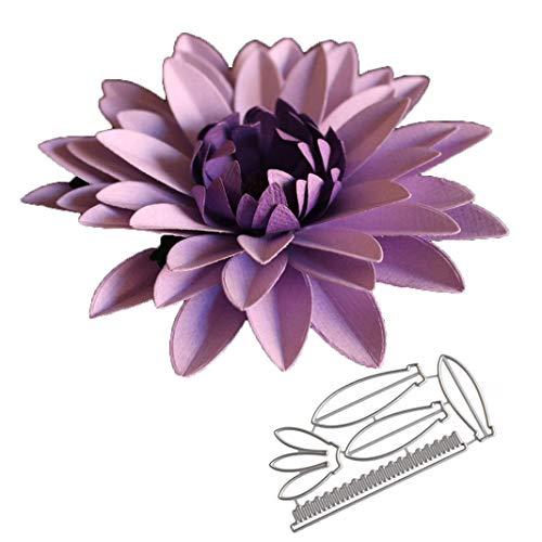 flores grandes 4# Troqueles de estampado en relieve Punch Plantilla de plantilla...