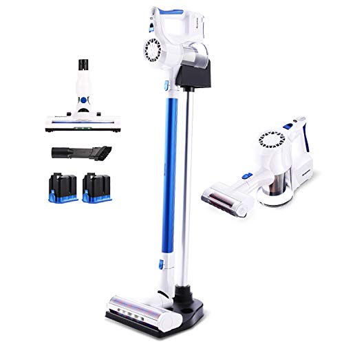 Cheapest Price! Kismom Cordless Vacuum Cleaner, 22KPa Powerful Suction Stick Vacuum, Lightweight Han...