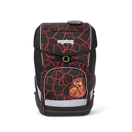 Ergobag cubo SupBärheld, ergonomischer Schulrucksack, Set 5-teilig, 19 Liter, 1.100 g, Rot