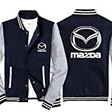 Chaquetas de Hombre Uniforme de béisbol para Mazda Imprimir Sudaderas de Moda de Manga Larga Ropa Exterior Zipper Sportper Sportswea Spring Casual Abrigos Tops Tops (Color : B, Tamaño : 3XL)