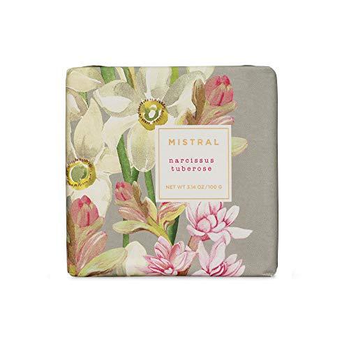 Mistral Bar Soap Organic Shea, Narcissus Tuberose