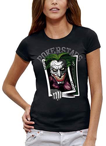PIXEL EVOLUTION T-Shirt Joker Poker Card - Damen - größe 3/L - Schwarz