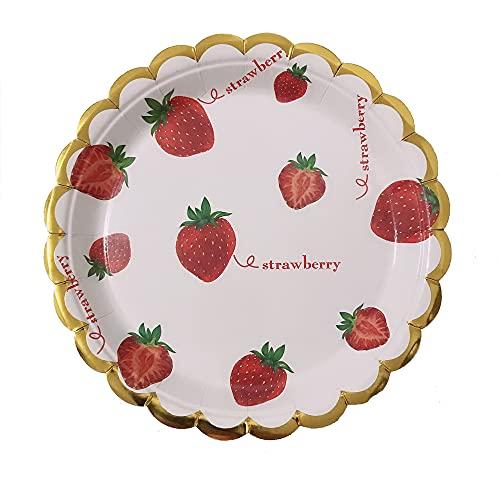 Platos de papel para cumpleaños de niños, juego de vajilla para fiestas, platos de papel para fiestas, bodas, 32 piezas,Rosado,18cm