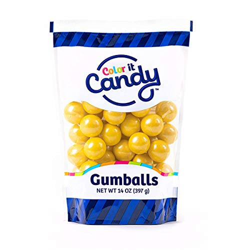Color It Candy Shimmer Yellow 1 inch Gumballs