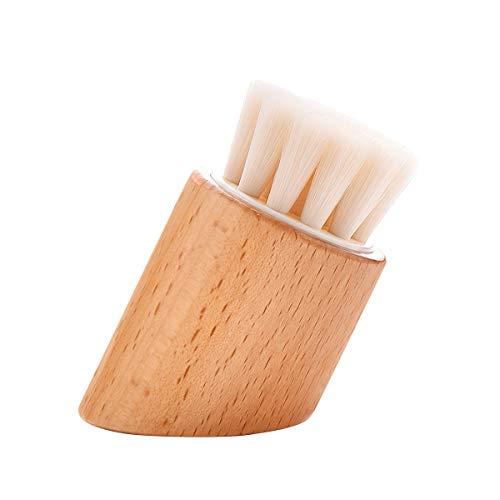 Beaupretty Pinceau simple de maquillage avec la poignée en bois Poudre faciale de poudre cosmétique de poudre de maquillage pour des femmes