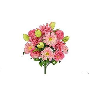 admired by nature gpb6342-pk/kw 18 stems artificial tulip, dahlia mixed bush, pink/kiwi, piece