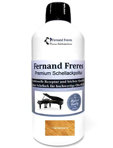 Schellackpolitur 500ml. Fernand Freres French SUPERBLOND - TRANSPARENT Klavierlack Hochglanz Farblos Politur Schellack gebrauchsfertig Schelllack