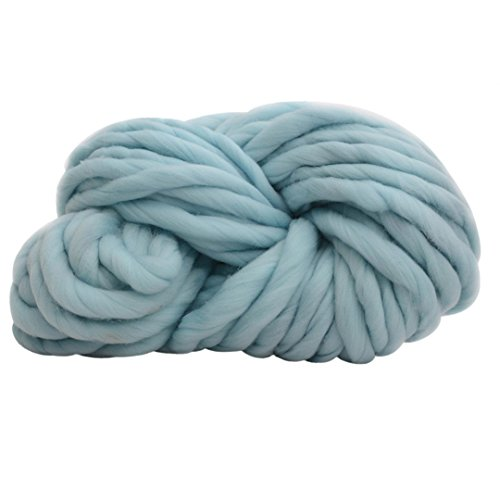 Tefamore Strickgarn Wolle Garn Super Soft Sperrige Armstricken Wolle Roving Croching DIY (F4)