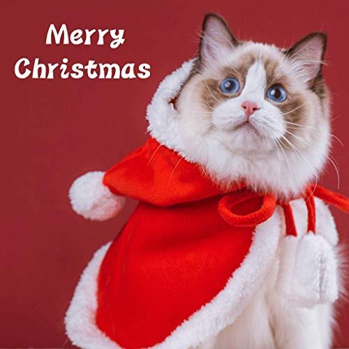 Yungo Disfraz de Navidad para Perro Gato Mascotas, Abrigo Vestido de Fiesta Cálido Lindo Disfraz de Navidad para Forteddy, Yorkshire Terrier, Chihuahua, Regalo Festivo (L)