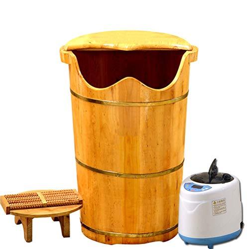 ZALIANG Paojiaotong Tonneau à Bulles en fût de Baril de Fumigation 60 cm de Haut en Bois de cèdre avec tonneau à Vapeur à la Vapeur, tonneau à Vapeur + Machine à Vapeur à la Vapeur, tonneau moussant