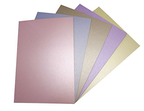 Crafter's Juego de Utensilios para Chimenea A3 20 Piezas Hoja Centura Pearl Pack de Tarjetas y Sobres, Colores Pastel/Multi-Color