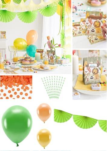 Mottobox Safari para cumpleaños infantiles, caja de fiesta temática para una fiesta de safari, para niños y niñas