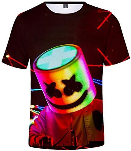 EMILYLE Niños Camiseta Sonrisa DJ 3D Impresión Chula Moda Tshirt Manga Corta