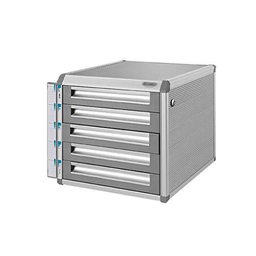 Aktemap, bureau, ladekast, met sleutel, voor het opbergen van gegevens, kleine piste, wit label – 31,5 x 35 x 29,8 cm