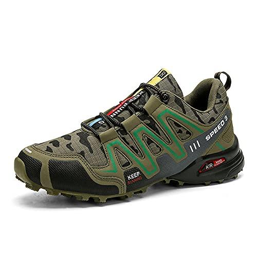 Zapatos de Piscina,Zapatos Casuales al Aire Libre Masculinos del Camuflaje Caminan los Zapatos-C_41#,Botas de Deportes acuáticos