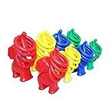 Toyandona Wurfspiel, Elefanten-Ringe, Wurfspielzeug, klein (gelber Elefant, vier Ringe) -