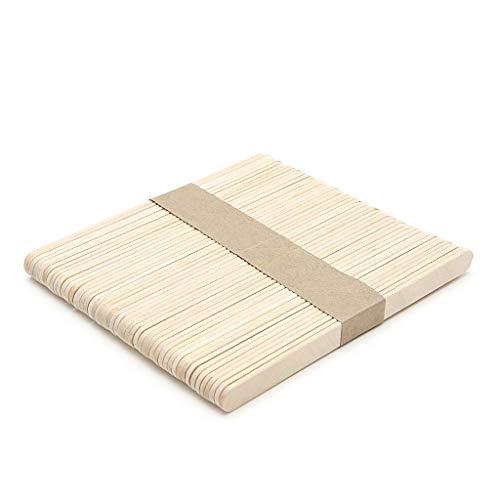 HELYZQ 50Pcs Wooden Ice Cream Sticks, Wooden Lolly Sticks, Natural Lollipop Sticks for Hand Crafts, 114 X 10 X 2 Mm