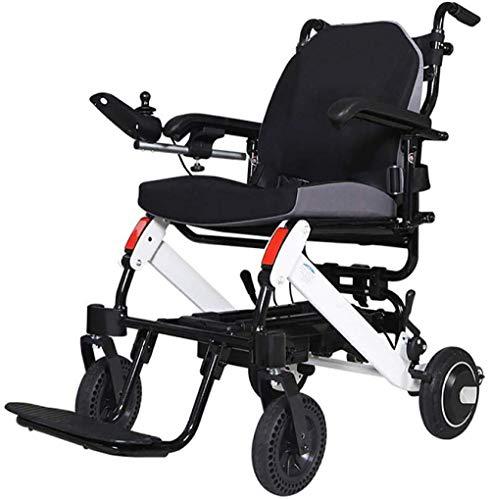 Sillas de ruedas de peso ligero plegable Silla de ruedas eléctrica de aluminio sillas de ruedas eléctricas portátiles aleación de aluminio de sillas de ruedas eléctricas para los inválidos de edad