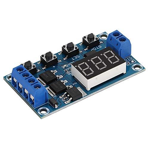 ASHATA relaismodule, 12-V-timer-tijdschakelaar, aan-/uitschakelen van relaismodule met led-indicator. De interface is overzichtelijk en beschikt over eenvoudige