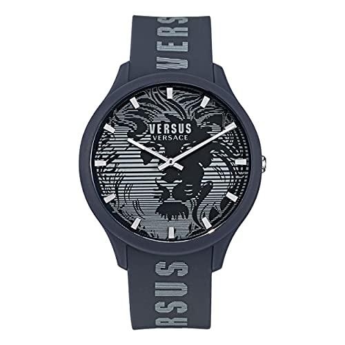Versus Versace Domus Gent - Reloj de pulsera para hombre, 44 mm, color azul