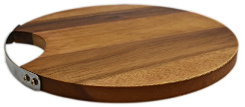 roro Round Wood Cheese and Serve Board with Stainless Steel Handle