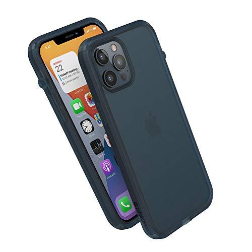 Influence Series Funda diseñada para iPhone 12 Pro Max, interruptor de silencio rotado patentado, a prueba de caídas de 3 m, compatible con MagSafe, Crux Accessories sistema de fijación – azul táctico