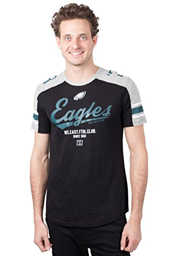 Ultra Game NFL Philadelphia Eagles Mens Active Crew Neck Jersey Tee Shirt, Team Color, Large