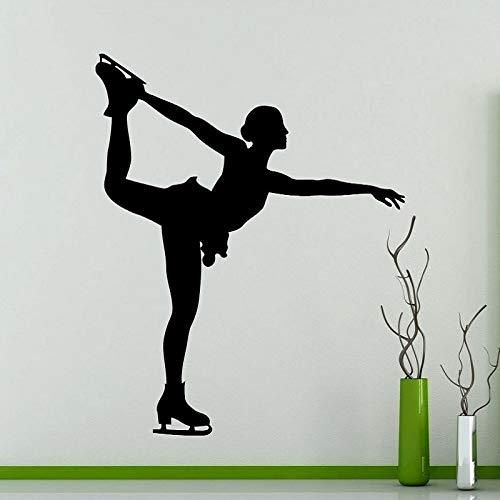Patinaje artístico deportes pegatinas de pared colegio niñas dormitorio patinaje artístico aficionados decoración de la habitación papel tapiz mural A1 42x51cm