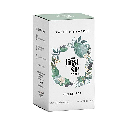 Sweet Pineapple Green Tea Box, 16 Tea Bags, The First Sip Of Tea