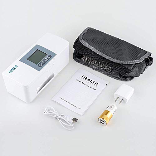 MISTLI Portable Insulin Cooler Cooler 2-8 ℃ LCD Display Refrigerated Container Small Refrigerator Keep Diabetes Medications Isolated