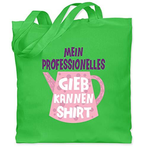 Up to Date Kind - Mein professionelles Gießkannen Shirt - rosa - Unisize - Hellgrün - stoffbeutel kind - WM101 - Stoffbeutel aus Baumwolle Jutebeutel lange Henkel