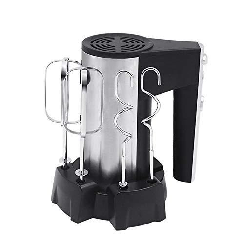 Handmixer handmixer set elektrisch deeg garde 5 versnellingen functie, handheld behoudt opslagbasis, roestvrijstalen racket en deeghaak vakman om te bakken 250 W