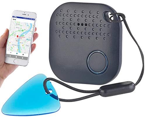 Callstel Tracker: 4in1-Mini-Schlüsselfinder mit Bluetooth, App & GPS-Ortung, 98 dB (Keyfinder App)