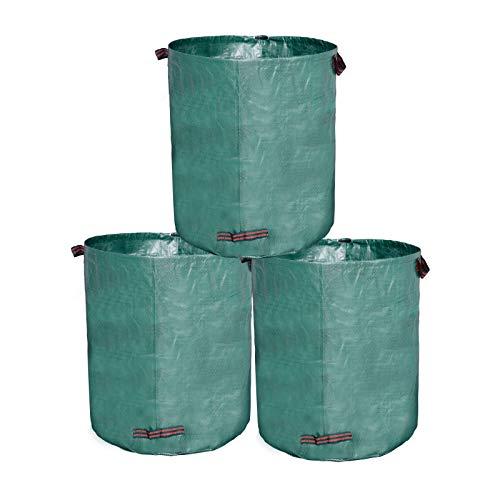 Lestarain 3X Gartensack 272l aus robustem Polypropylen-Gewebe Gartenabfallbehälter 150gsm