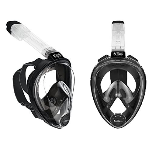 TUSA Vollgesichtsmaske Schnorcheln Black Series S