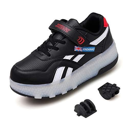 GJJH Led Luces Zapatos con Ruedas USB Recargable Skate...