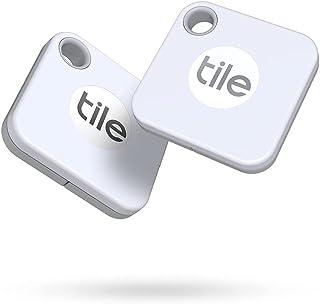 Tile Mate (2020) Bluetooth-tracker, sleuteltracker en itemlocator voor sleutels, tassen en meer - 2 Stuks, Wit