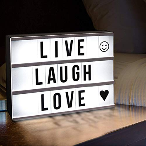 Decoratieve verlichting DIY A4-formaat LED Combinatie Light Box Night tafellamp DIY zwarte letters Kaarten USB Powered Lightbox Decoratieve verlichting