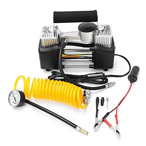 ZXJUAN zuurstoffontein, luchtcompressor, beweegbare rubberen bandenpomp met manometer, 150 p, 70 liter, 12 V, 280 W, cilinder