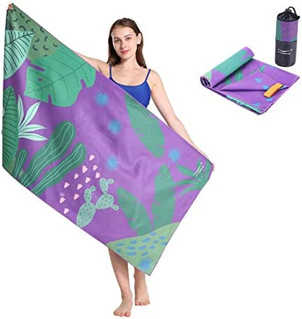 CHARS Quick Dry Beach Towel Double Sided Printed Microfiber Sports Towel Ultra Compact Travel product image