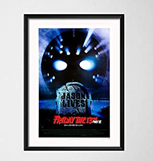SGDDGF Photo Wall Decoration Jason Voorhees Classic Horror Movie Art Painting Canvas Poster Wall Home Decor 42X60 cm No Frame