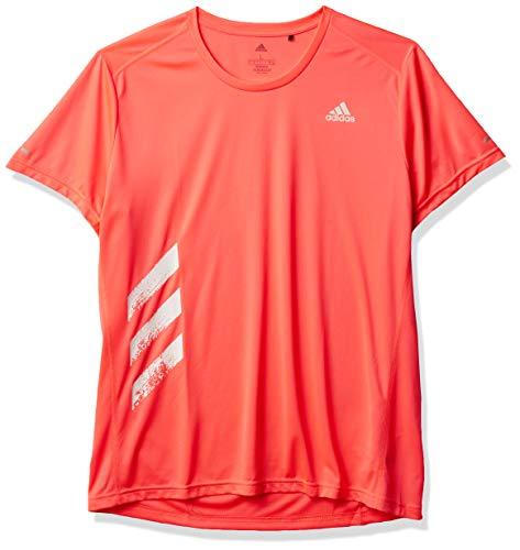 adidas Run It Personal Best 3-Stripes Camiseta, Señal Rosa, Extra-Large para Hombre