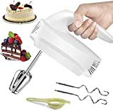 Handheld Mixers Electric, 5-Speed Small Stainless Steel Hand Mixer with Turbo and Convenient Eject Button, Including 2 Mixers and 2 Dough Hooks Electric Hand Mixers for Kitchen Beating Eggs Cakes
