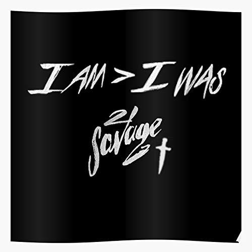 Am Album Trap Cover Music Savage 21 Rap Regalo para la decoración del hogar Wall Art Print Poster 11.7 x 16.5 inch