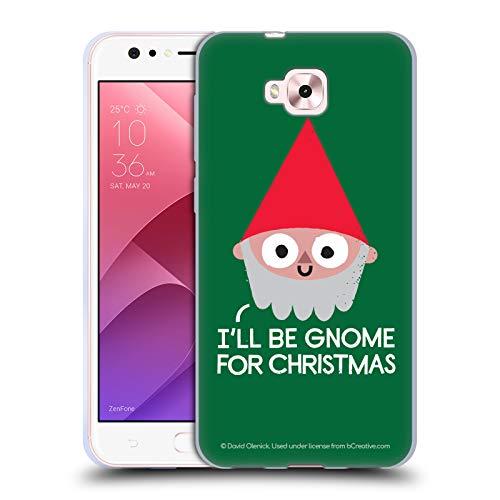 Head Case Designs Ufficiale David Olenick Gnomo Vacanze Cover in Morbido Gel Compatibile con Zenfone 4 Selfie ZD553KL